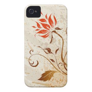 vintage Grunge floral style iPhone 4 Case