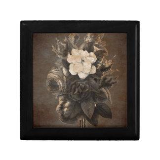 Vintage Grunge Flowers Jewelry Box