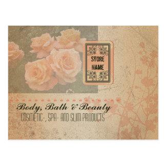 Vintage Grunge Flowers - Postcard