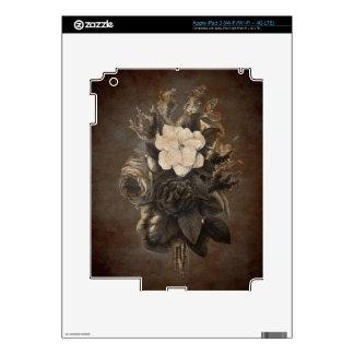 Vintage Grunge Flowers Skin For iPad 3