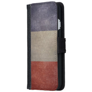 Vintage Grunge French Flag Wallet Phone Case For iPhone 6/6s