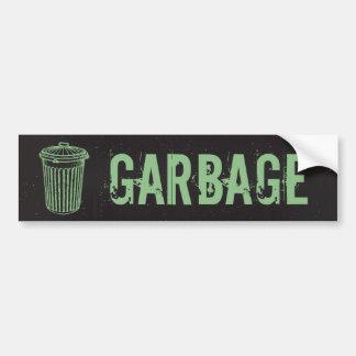 Vintage Grunge Garbage Trash Can Label