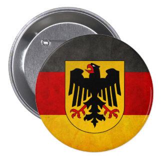 Vintage Grunge Germany Flag Deutschland Flag 3 Inch Round Button