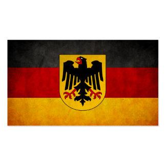 Vintage Grunge Germany Flag Deutschland Flag Business Card