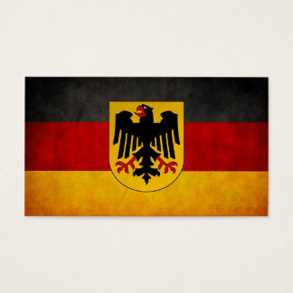 Vintage Grunge Germany Flag Deutschland Flag Business Card