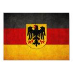 "Vintage Grunge Germany Flag Deutschland Flag 4.5"" X 6.25"" Invitation Card"