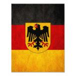 "Vintage Grunge Germany Flag Deutschland Flag 4.25"" X 5.5"" Invitation Card"