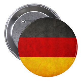 Vintage Grunge Germany Flag Deutschland Flag Pinback Button