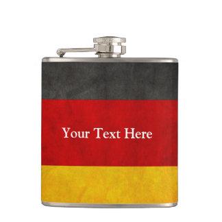 Vintage Grunge Germany Flag with Custom Text Hip Flasks