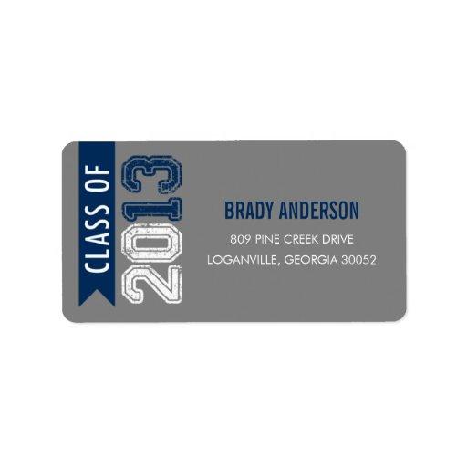 Vintage Grunge Graduation Address Label Personalized Address Labels
