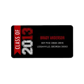 Vintage Grunge Graduation Address Label Labels