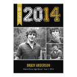 Vintage Grunge Graduation Invitation - Mustard Personalized Announcement