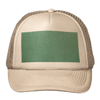 Vintage Grunge Green Leather Pattern Hats