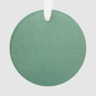 Vintage Grunge Green Leather Pattern Ornament