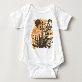 Vintage Grunge Guitar Baby Bodysuit