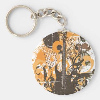 Vintage Grunge Guitar Keychain