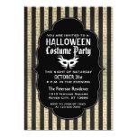 Vintage Grunge Halloween Costume Party Invitations