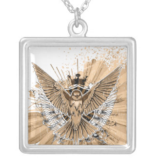 Vintage Grunge Hummingbird Necklace