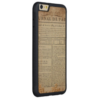 Vintage Grunge Journal Page Carved® Maple iPhone 6 Plus Bumper