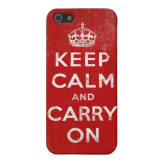 Vintage Grunge Keep Calm and Carry On Case For iPhone SE/5/5s