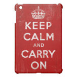 Vintage Grunge Keep Calm and Carry On iPad Mini Cover