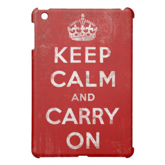 Vintage Grunge Keep Calm and Carry On iPad Mini Case