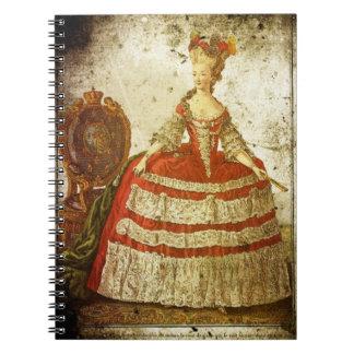 Vintage/Grunge Marie Antoinette Notebook