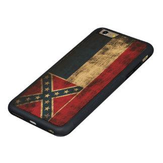 Vintage Grunge Mississippi Flag Carved Maple iPhone 6 Plus Bumper Case