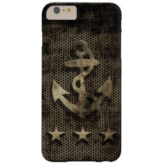 Vintage Grunge Nautical Anchor Barely There iPhone 6 Plus Case