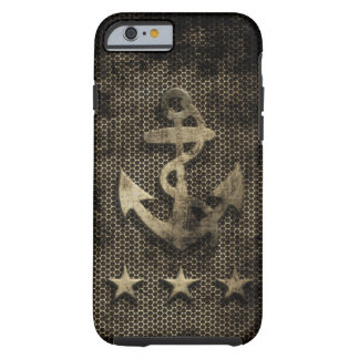 Vintage Grunge Nautical Anchor Tough iPhone 6 Case