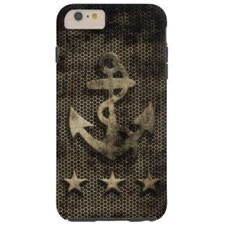 Vintage Grunge Nautical Anchor Tough iPhone 6 Plus Case