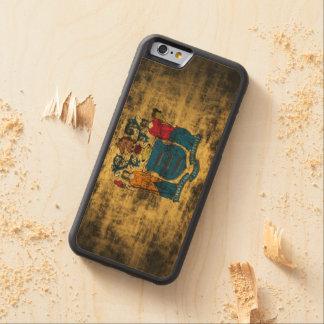 Vintage Grunge New Jersey Flag Carved® Maple iPhone 6 Bumper Case