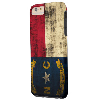 Vintage Grunge North Carolina Flag Tough iPhone 6 Plus Case