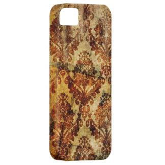 Vintage Grunge Paris brown Damask iphone5 case