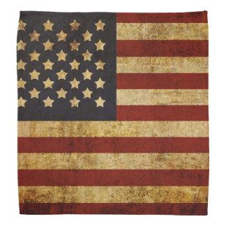 Vintage Grunge Patriotic USA American Flag Bandana