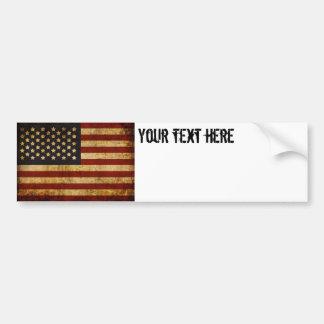 Vintage Grunge Patriotic USA American Flag Bumper Sticker