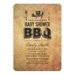 Vintage Grunge Pig Roast Baby Shower BBQ Custom Invites
