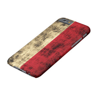 Vintage Grunge Polish Flag Barely There iPhone 6 Case