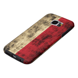 Vintage Grunge Polish Flag Samsung Galaxy S6 Cases