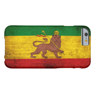 Vintage Grunge Rastafarian Flag Barely There iPhone 6 Case