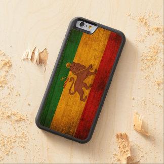 Vintage Grunge Rastafarian Flag Carved® Cherry iPhone 6 Bumper