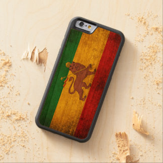 Vintage Grunge Rastafarian Flag Carved Cherry iPhone 6 Bumper Case