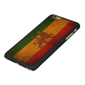 Vintage Grunge Rastafarian Flag Carved Cherry iPhone 6 Plus Slim Case