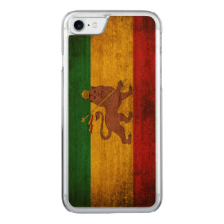 Vintage Grunge Rastafarian Flag Carved iPhone 7 Case