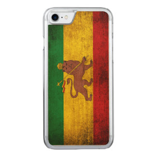 Vintage Grunge Rastafarian Flag Carved iPhone 8/7 Case