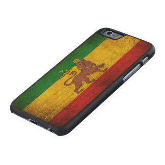 Vintage Grunge Rastafarian Flag Carved Maple iPhone 6 Slim Case