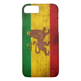 Vintage Grunge Rastafarian Flag iPhone 7 Case