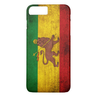 Vintage Grunge Rastafarian Flag iPhone 7 Plus Case