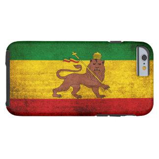 Vintage Grunge Rastafarian Flag Tough iPhone 6 Case