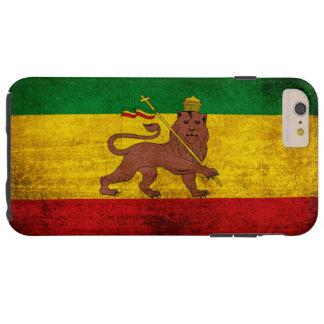 Vintage Grunge Rastafarian Flag Tough iPhone 6 Plus Case